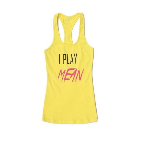 I Play Mean Tank Top | MateFit.Me Teatox Co