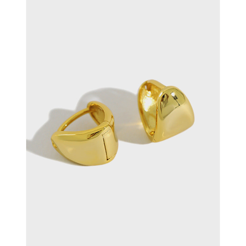 No Quitter - 18 K Gold Plated Sterling Silver Hoop Earring