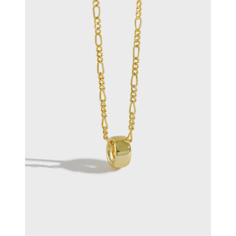 Wheel of Fortune -  18 K Gold Plated Sterling Silver Wheel Necklace