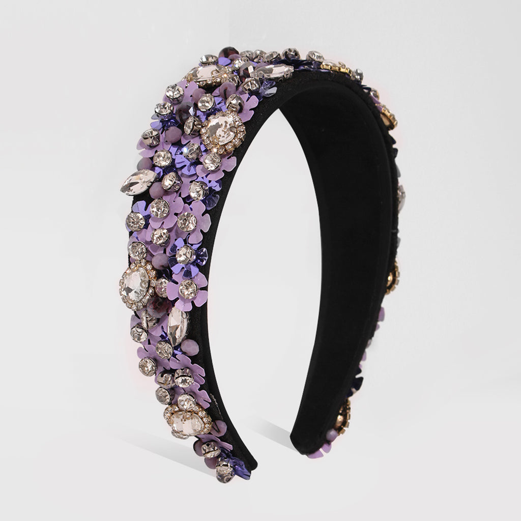 Floral Embellished Luxurious Headbands, Christmas Holiday Headbands