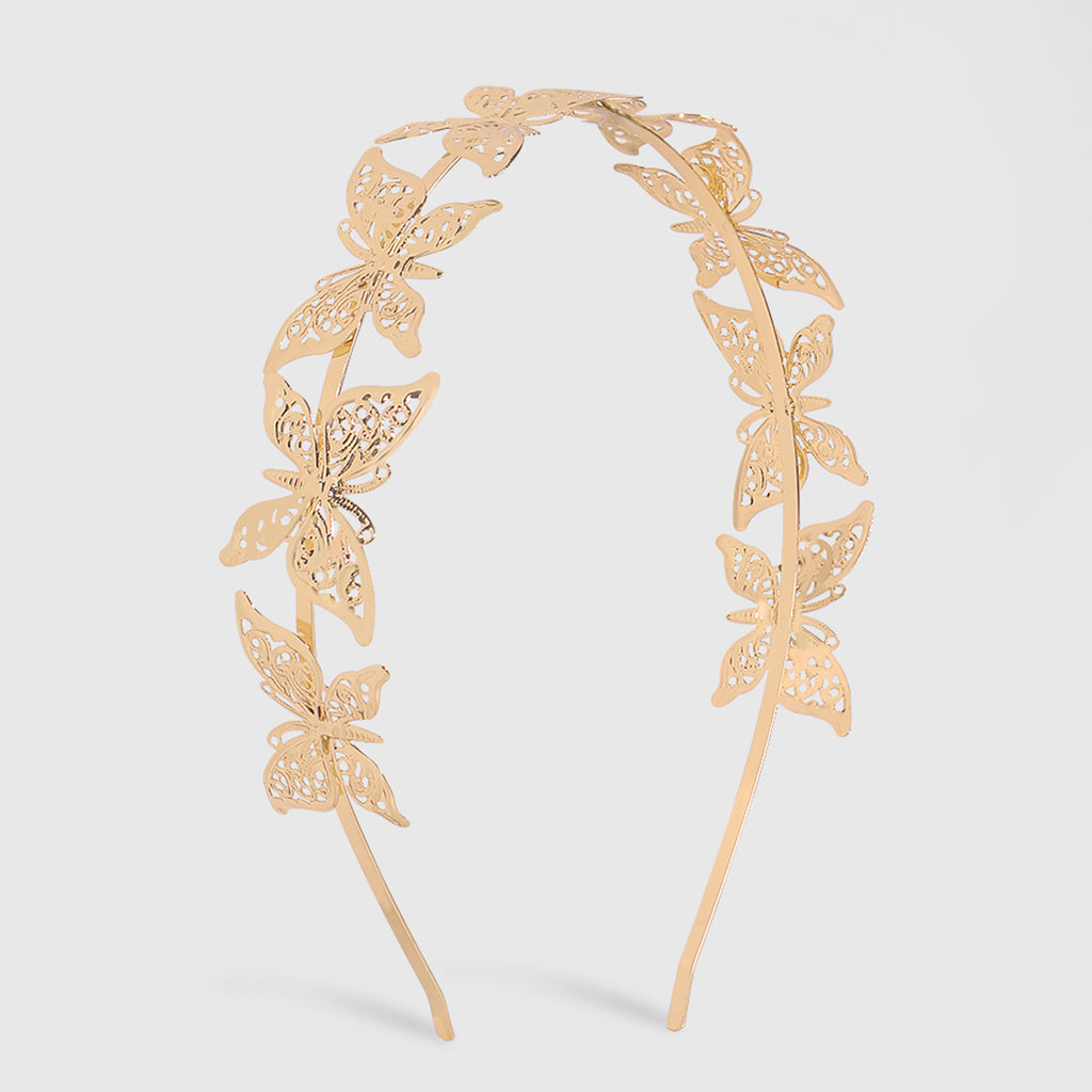 Gold Butterfly Alloy Headband