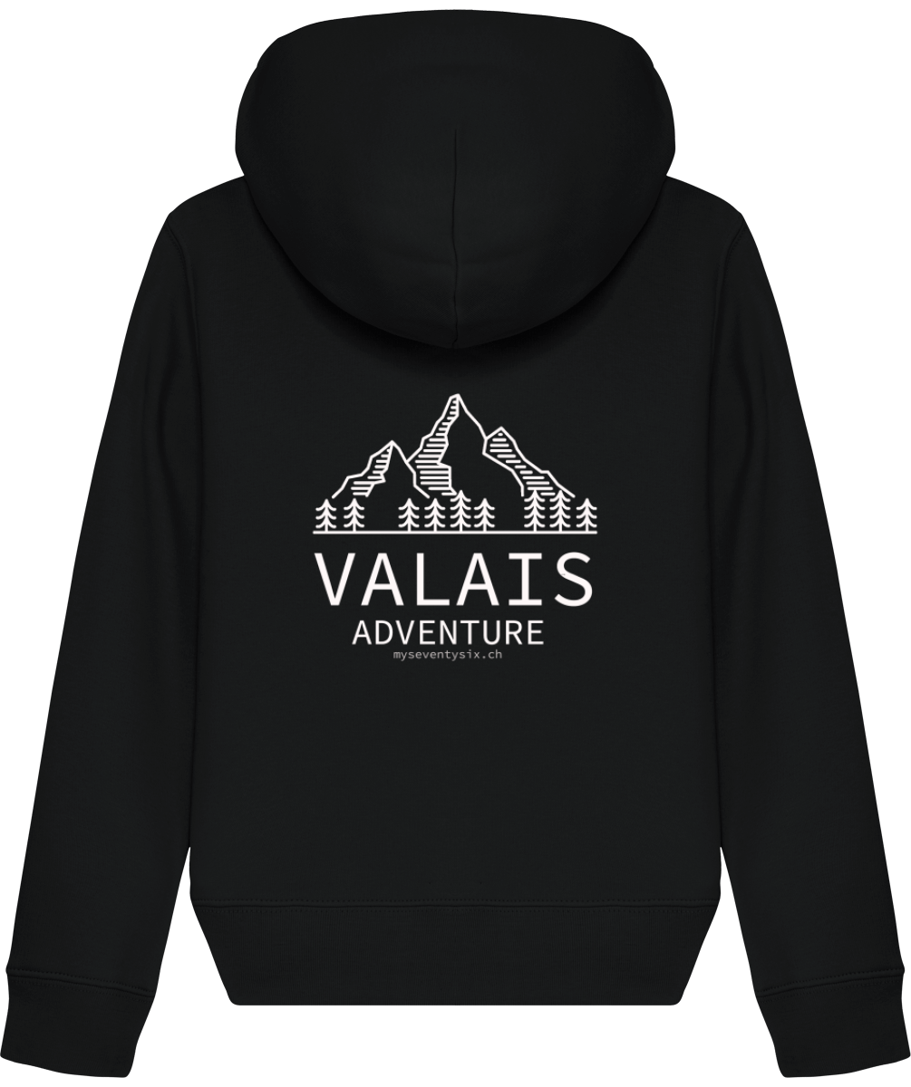 Sweat Shirt Zippé - Coton bio - VALAIS ADVENTURE - Pour enfants