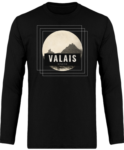 T-Shirt manches longues - VALAIS THE PLACE TO BE - Pour lui