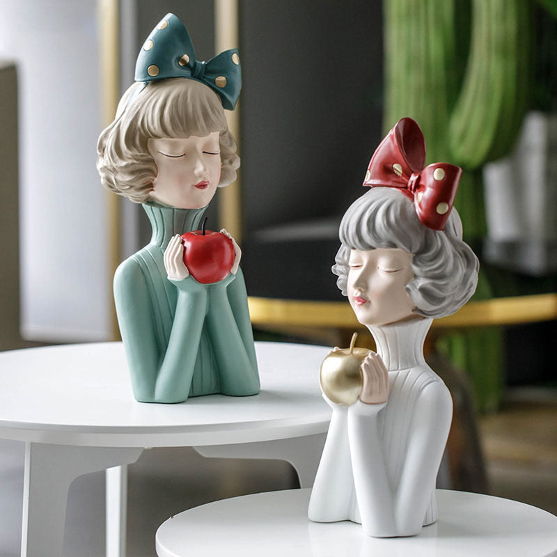 Doll Holding Apple 🍎