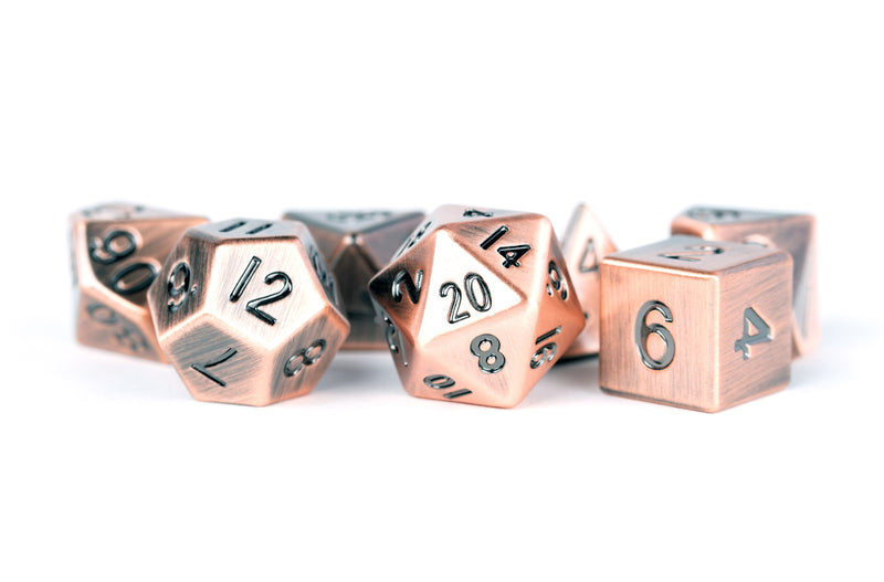 Metal Dice: Antique Copper 16mm Poly Set