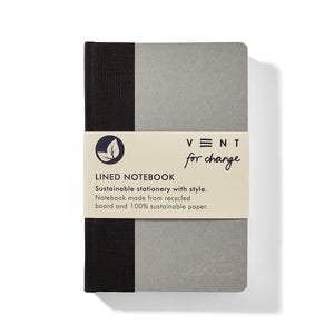 Vent for change a6 recycled board notebook black lined