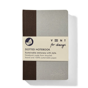 Vent for change a6 recycled board notebook brown dotted