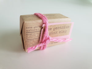 Vegan Soap Rose Geranium & Pink Clay