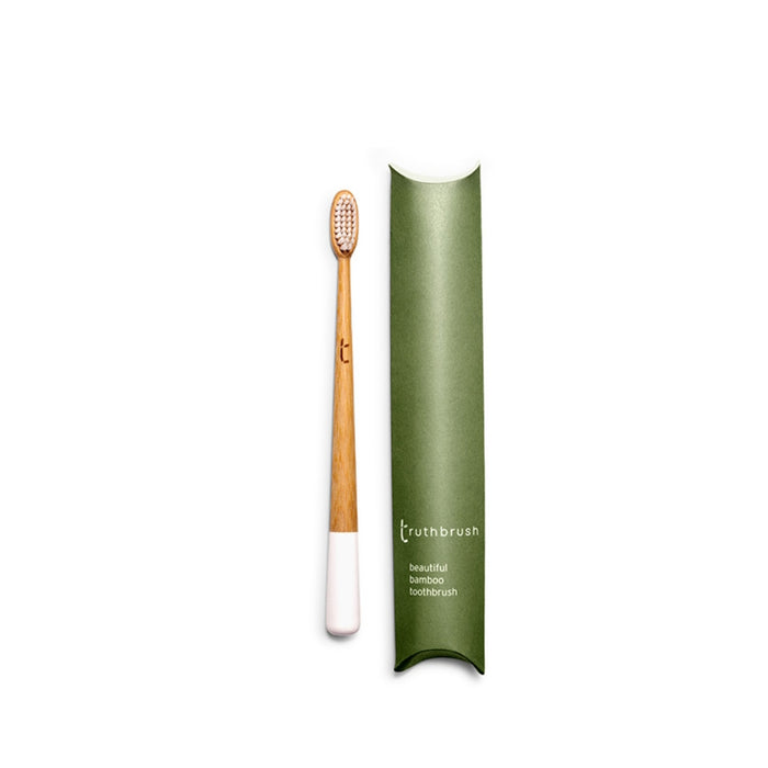 Bamboo Toothbrush - Cloud White with Soft Plant Based Bristles - Truthbrush