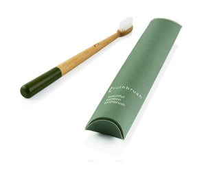 Bamboo Toothbrush Moss Green Medium Truthbrush