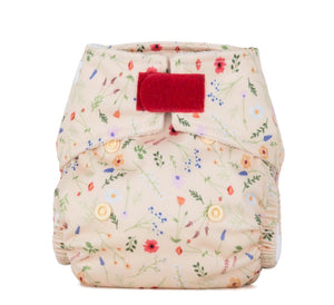 Newborn Reusable Nappy Wildflowers