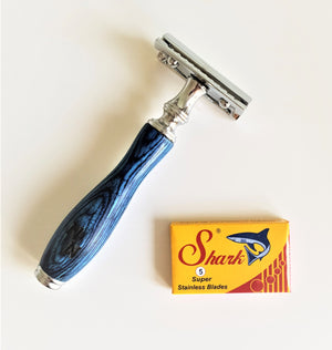 Brown Wooden Safety Razor Naked Necessities