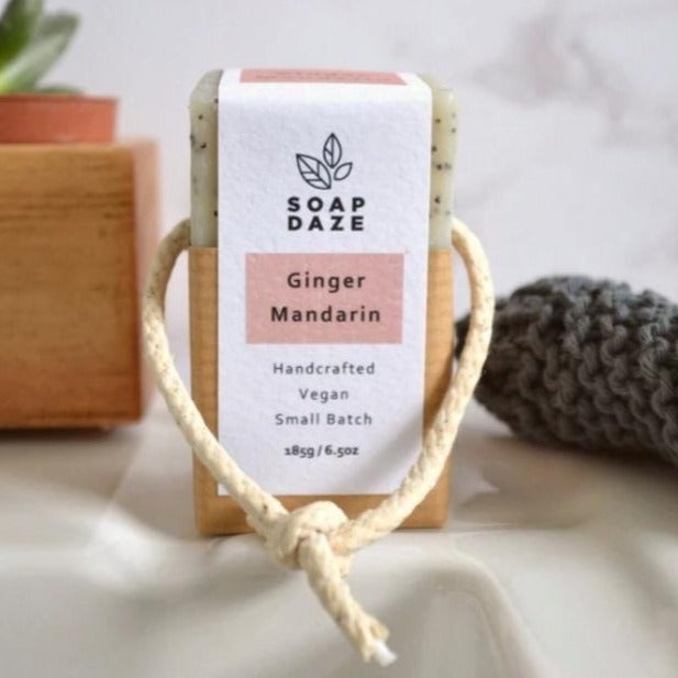 Soap on a Rope Ginger & Mandarin - 185g - Soap Daze