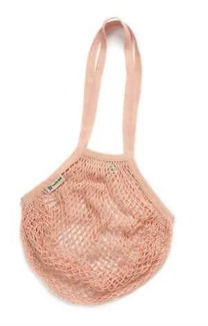 Organic Cotton Reusable Blush Long Handled Turtle Bag