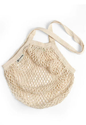 Organic Cotton Reusable Natural Short Handled Turtle Bag
