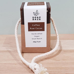 Soap on a Rope Coffee & Raw Cacao Soap Daze