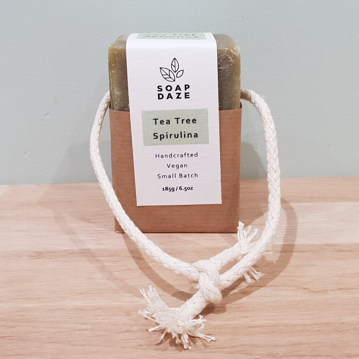Soap On A Rope - Tea Tree & Spirulina - 185g