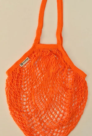 long handled orange turtle bag