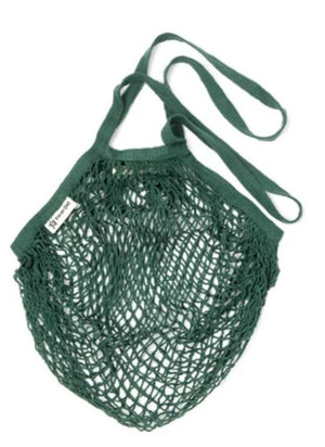 long handled bottle green turtle bag