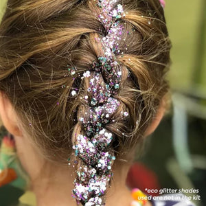 braids biodegradable glitter