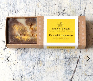 frankincense with gold mica soap soap daze