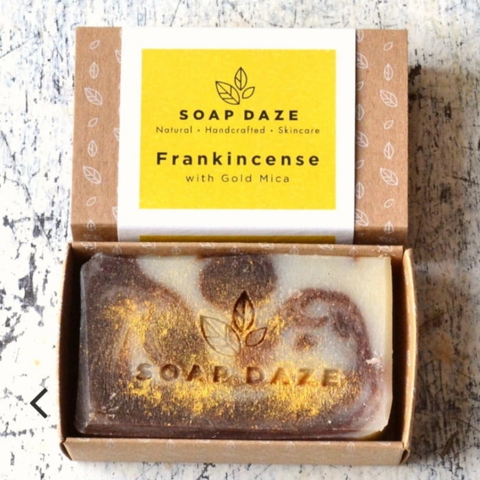 Frankincense With Gold Mica Soap - 112g - Soap Daze