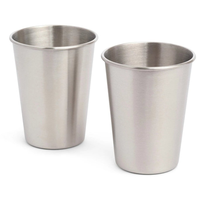 2 x Stainless Steel Cups - 350ml - Elephant Box
