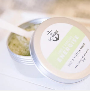 lime & avocado energise salt scrub