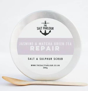 jasmine & match a green tea repair salt scrub