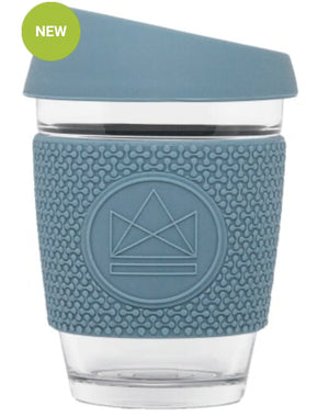 glass coffee cup neon kactus blue