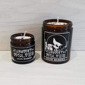 Snow Berries Soy Wax Candle - Run With Wolves
