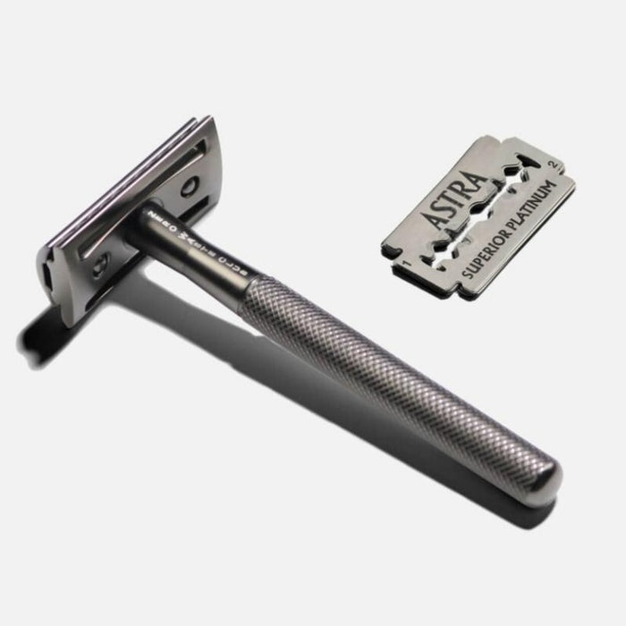 Reusable Safety Razor - Metal Grey