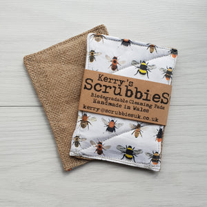 Scrubbies Washing Up Pads x2 Pack - Bees