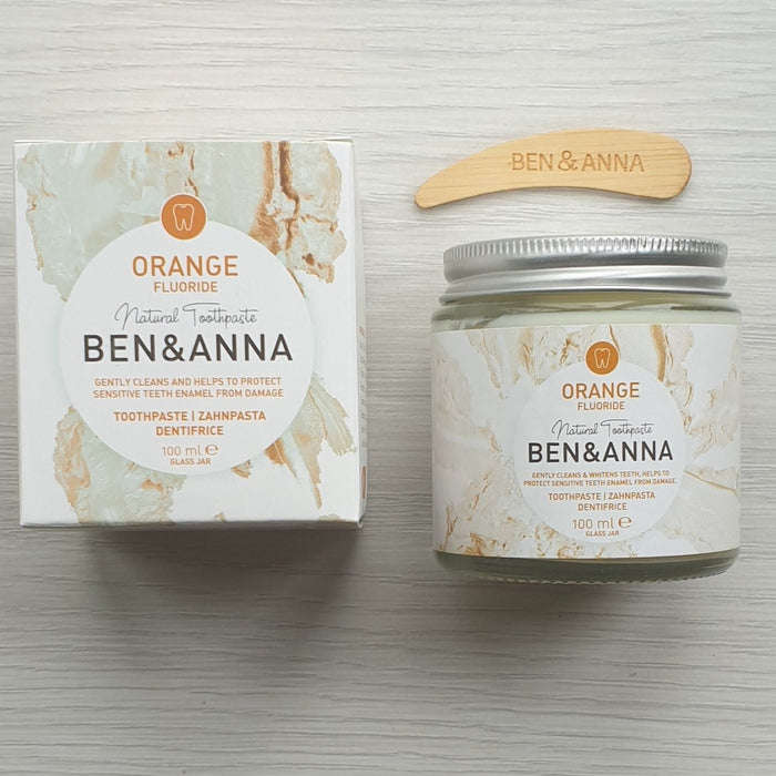 Natural Toothpaste Orange (With Fluoride) - Ben & Anna - 100ml