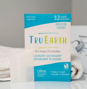Eco strips laundry detergent fresh linen tru earth
