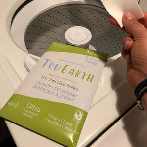 Eco strips laundry detergent fragrance free tru earth