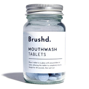 Mouthwash tablets peppermint brushd.