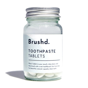 Toothpaste tablets fluoride free brushd.