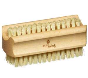 wooden nail brush ecoliving