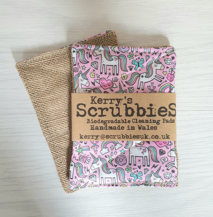 Scrubbies Washing Up Pads x2 Pack - Unicorns