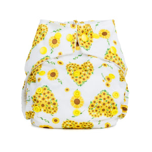 Sunflowers reusable nappy baba and boo