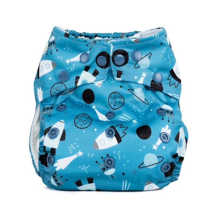 Birth to Potty Reusable Cloth Nappy - Space - Baba & Boo