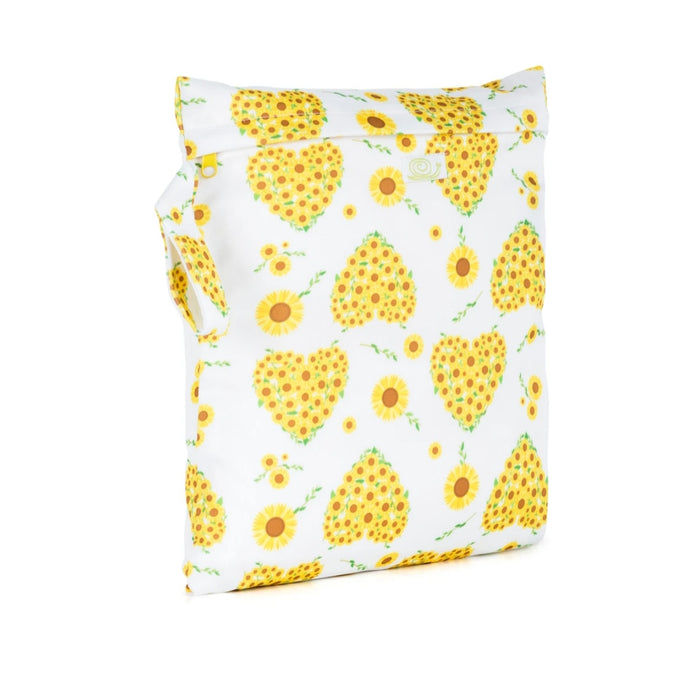 Small Reusable Nappy Storage Bag - Sunflowers - Baba & Boo