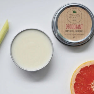 Grapefruit and lemongrass deodorant zero waste path