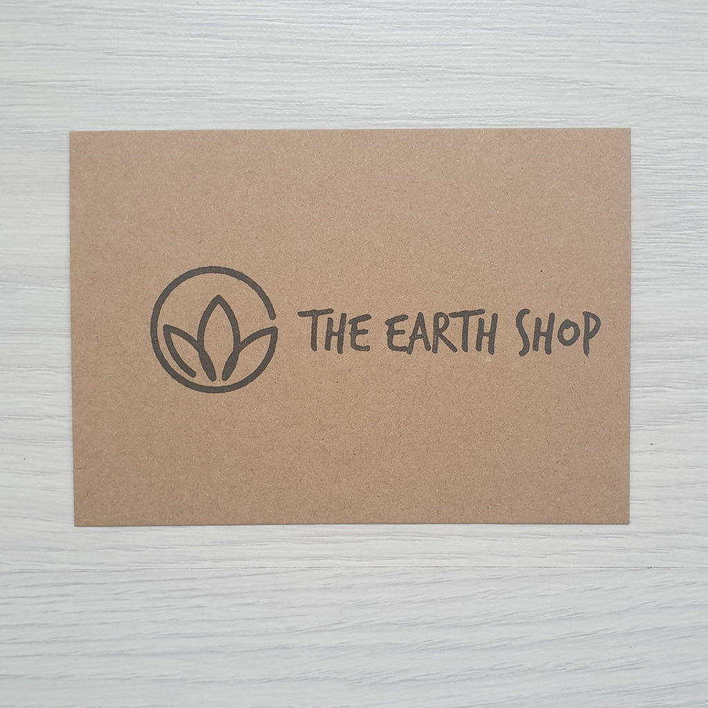 Vegan and plastic free gift cards the earth shop
