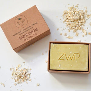 Unscented Oatmeal soap bar zero waste path