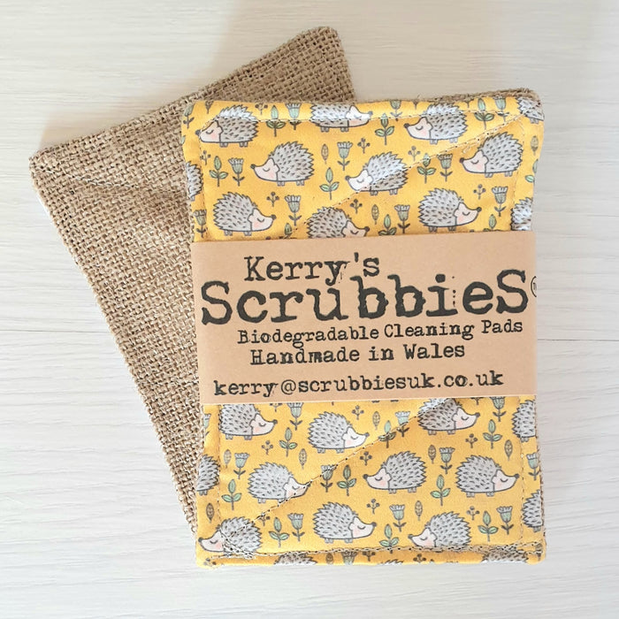 Scrubbies Washing Up Pads x2 Pack - Hedgehogs