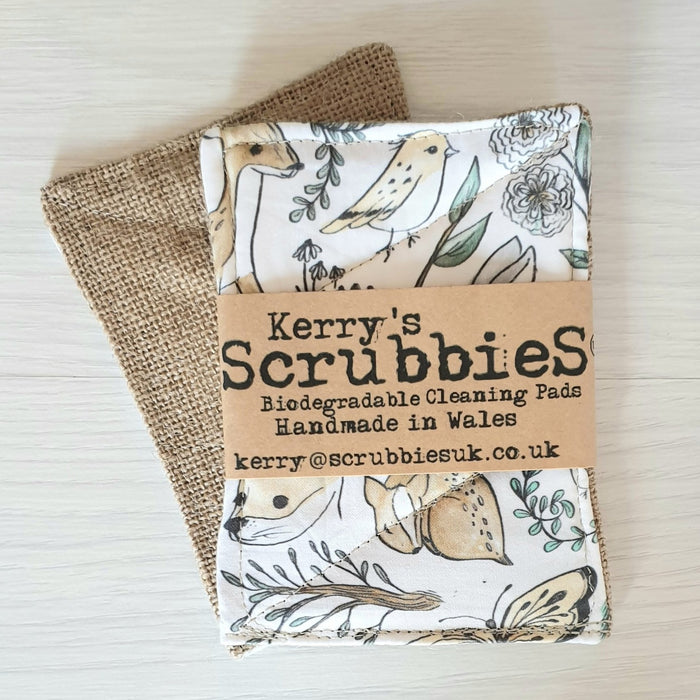 Scrubbies Washing Up Pads x2 Pack - Woodland Animals