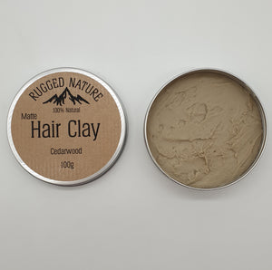 cedarwood vegan hair clay rugged nature
