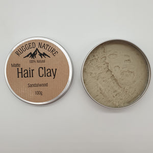 sandalwood matte hair clay rugged nature